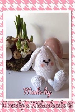 Wendy's Mhaaksels Haakpatroon Funny Bunny Modificatie Eierdop